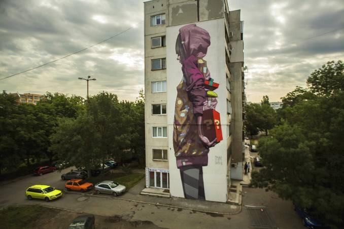 etam cru - street art - surprise - sofia - bulgarie