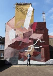 Johannes Mundinger - mural in Boulogne sur Mer, France