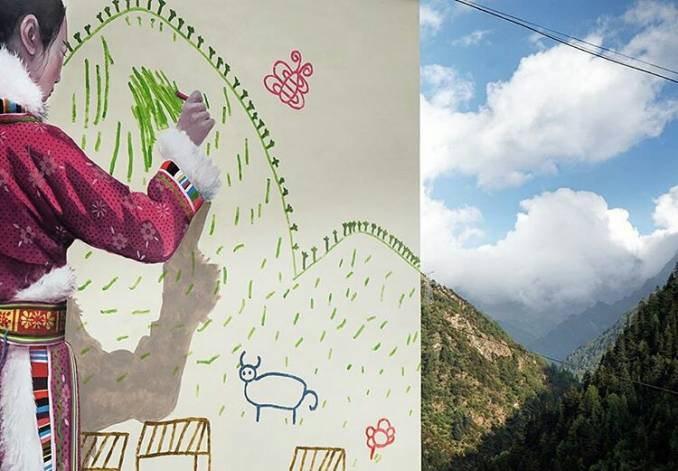 julien malland - seth - street art - back to school china project - changping - chine