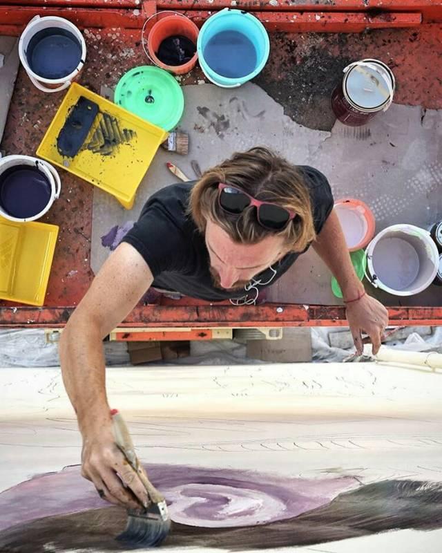 julien malland - seth - street art - back to school china project - changping - chine