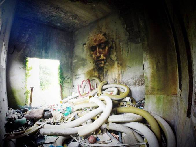 la rouille - street art - rat urbain - redon