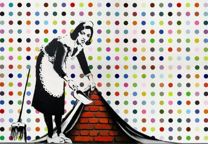 "Banksy - ""Keep it Spotless"" (2007) - 214 x 305 cm"