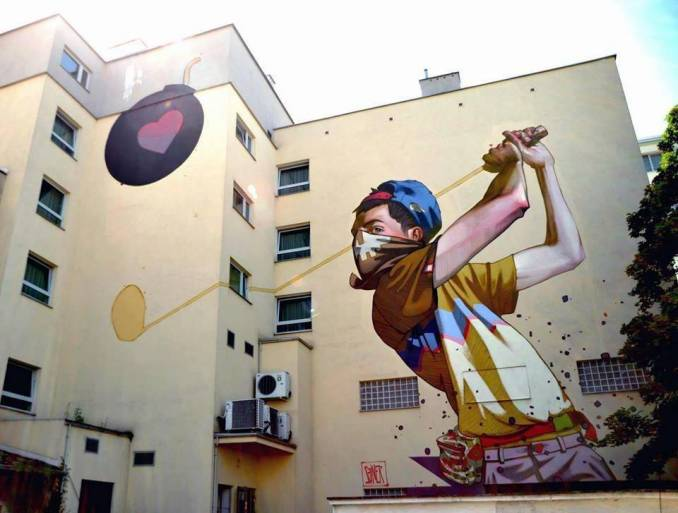 sainer - street art - cupido - gdynia - pologne