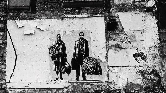ernest pignon-ernest - street art - expulsions - paris