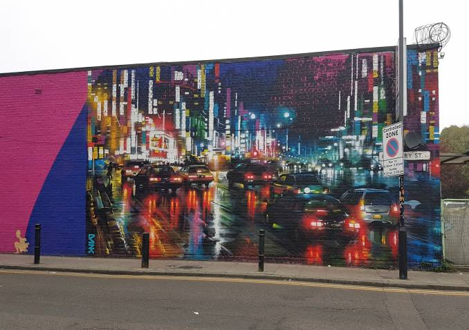 dan kitchener - dank - street art - london rush - shoreditch - londres