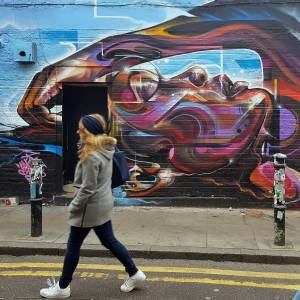 Mr Cenz - street art - shoreditch - london - hanbury street