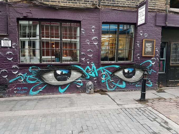 my dog sighs - street art - shoreditch - london