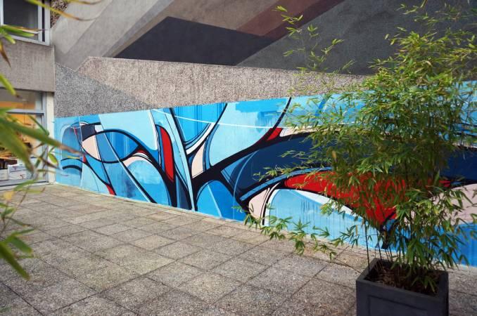 romain froquet - street art - bibliothèque aimé cesaire - paris 14