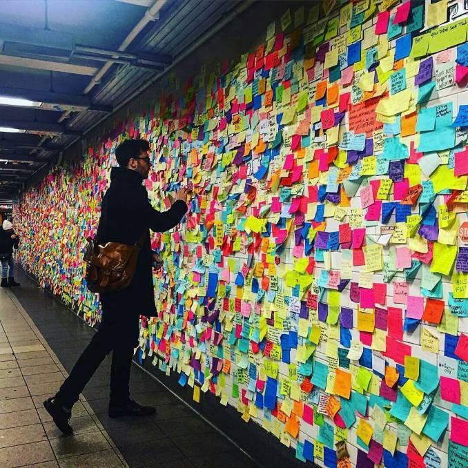 subway therapy - matthew chavez - levee - street art - new york