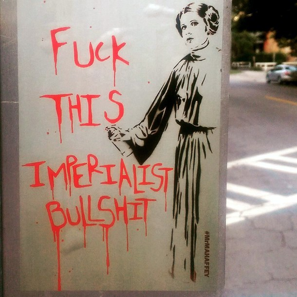 MrMahaffey - street art - princesse leia - carrie fisher