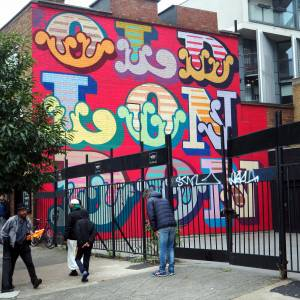 ben eine - old london - street art - shoreditch - london - club row street