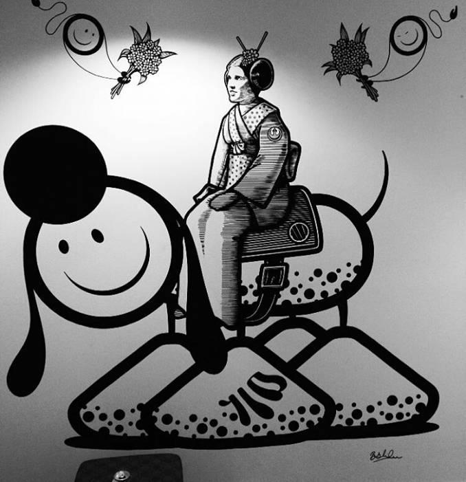 london police - street art - princesse leia - carrie fisher