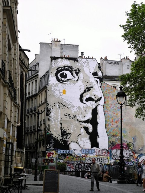 jef aerosol - street art - paris - france