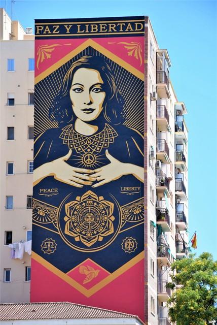 shepard fairey - street art - malaga - espagne