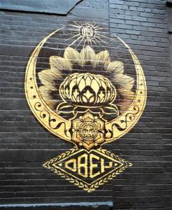 shepard fairey - street art - soho - new york - usa