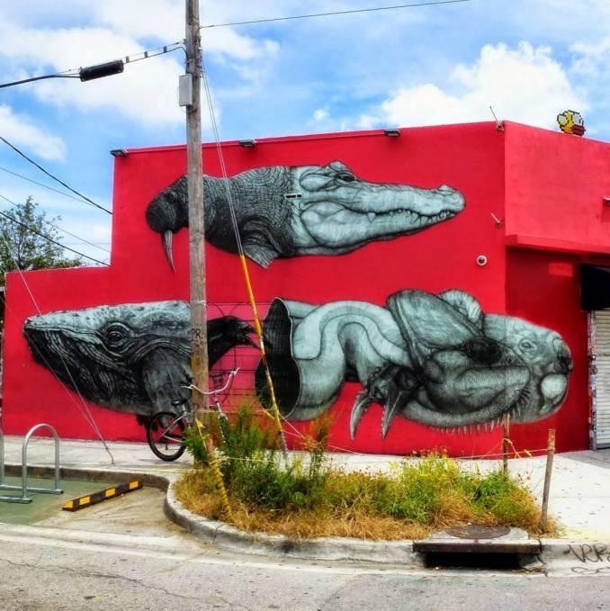 alexis diaz - la pandilla - street art - miami - wynwood