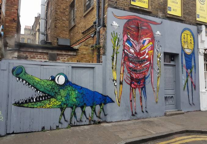 bault - street art - hanbury street - brichlane - shoreditch - londres