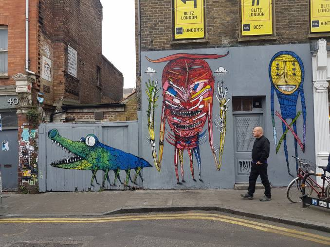 bault - street art - hanbury street - brichlane - shoreditch - londres