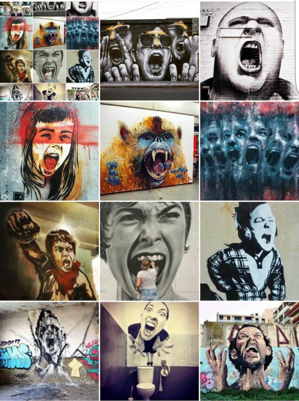 cri - shout - street art - mosaique