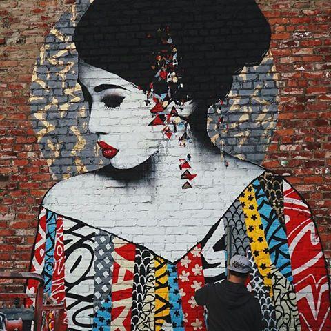 hush - street art - los angeles