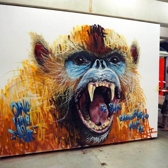 Louis Masai - street art - Quai36 - Gare du Nord - Paris