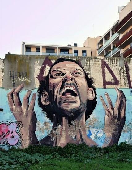sebastien waknine - street art - poblenou - barcelone