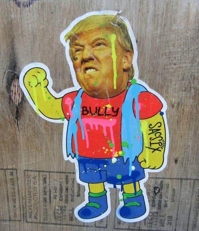 trump - dumptrump - street art avenue - graffiti - sac six