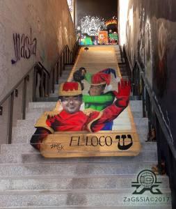 zag et sia - street art - anamorphose - le lavomatic - paris 13