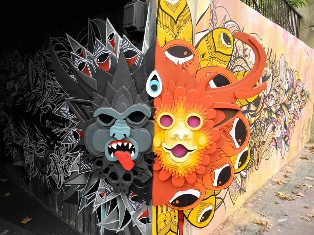 neurone & hasart - street art - marseille