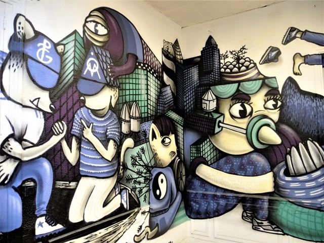 collectif bleu noir - street art - marseille