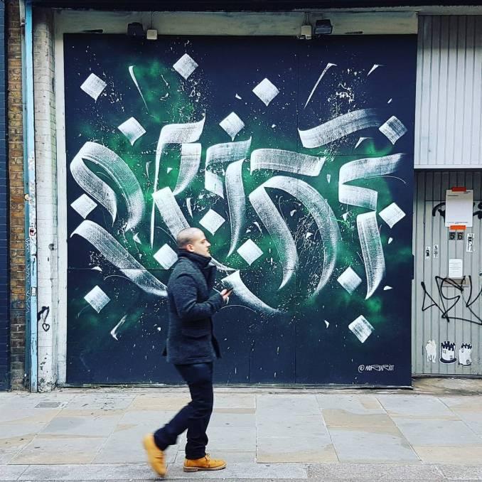 andrea riot - calligraffiti - street art - graffiti - london