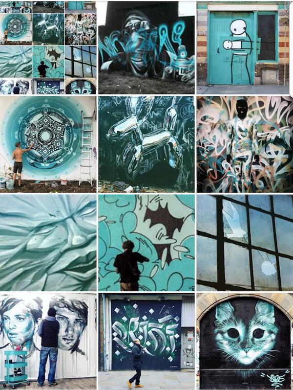 street art - turquoise - streetart avenue - instagram