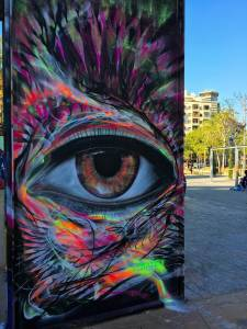 l7m - street art - eye - barcelone