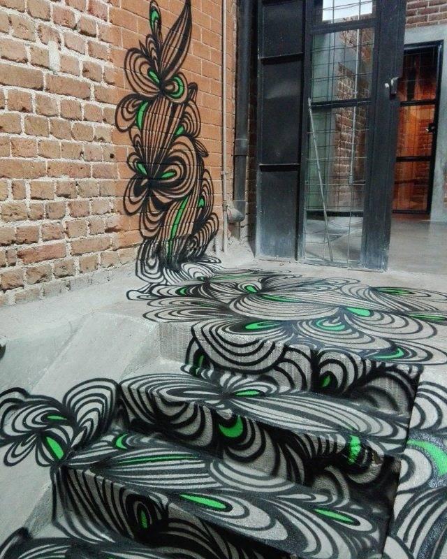kef - street art - abstraction - guatemala