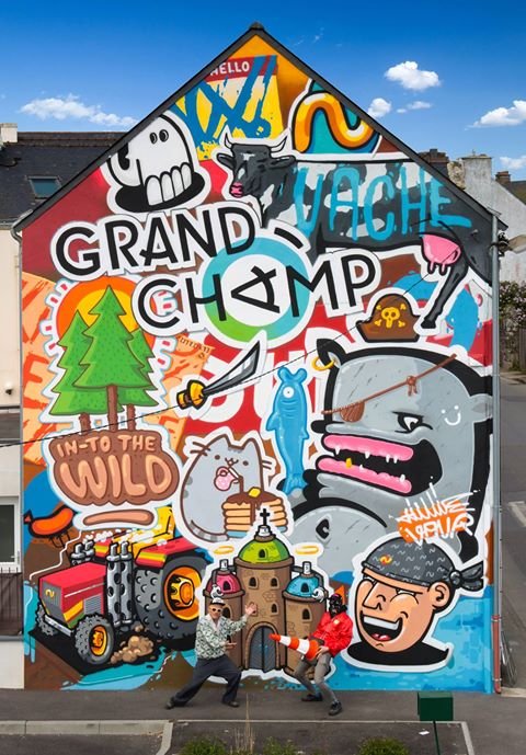 Street Art Champêtre à Grandchamp, Morbihan, France