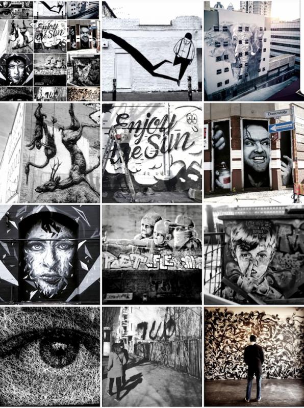 mosaic - noir blanc - bllack white - street art avenue