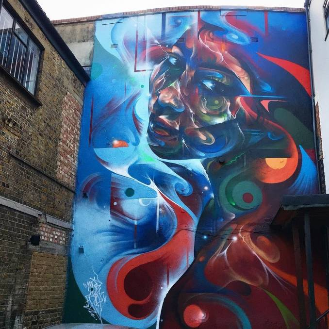 mr cenz - street art - aquarian dream - londres