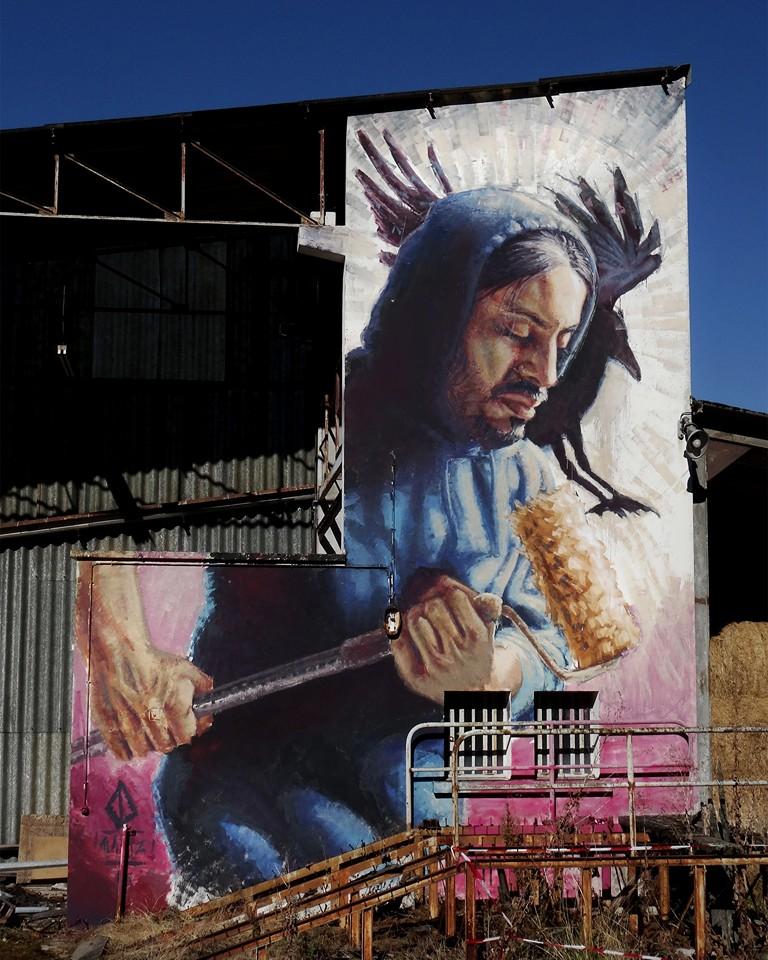 """""""Blue Bird"""", Street Art City (Moulin - FR, 2016)"""