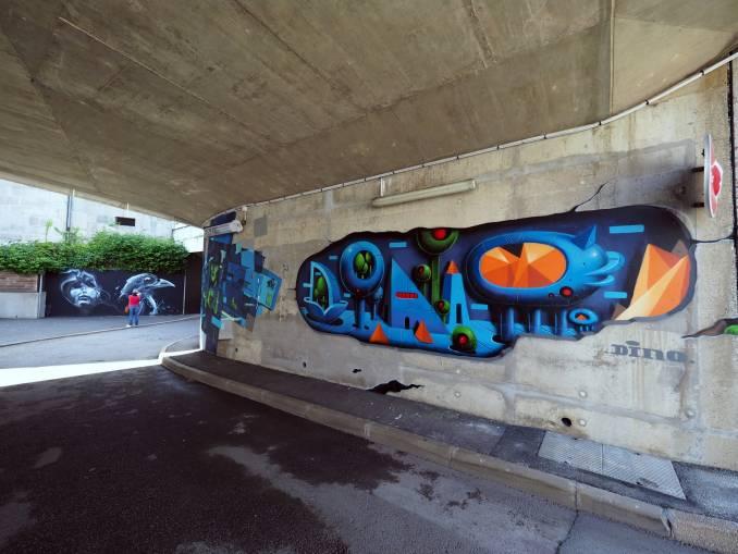 dino voodoo - street art - vannes et sa street