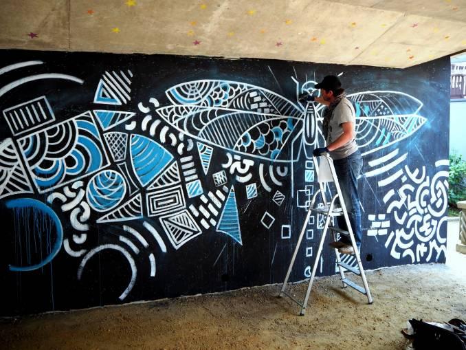 oox - jerome le franc - street art - vannes et sa street - libellule