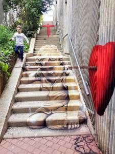 zag sia - street art - vannes et sa street - fallen angel