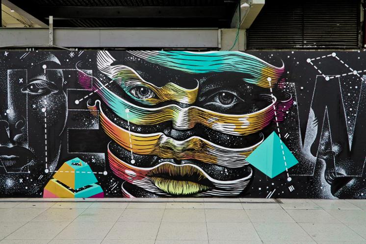 dourone - street art - quai36 - paris - gare du nord