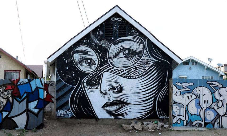 dourone - street art - filipino town - los angeles