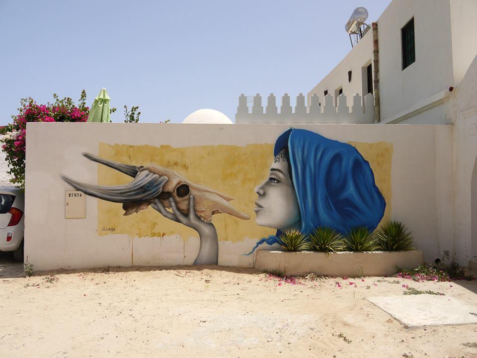 liliwenn - street art - djerbahood - tunisie