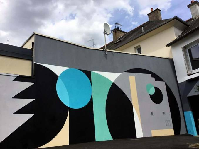 dino voodoo - street art - el gato negro - black cat - bruz- bretgane
