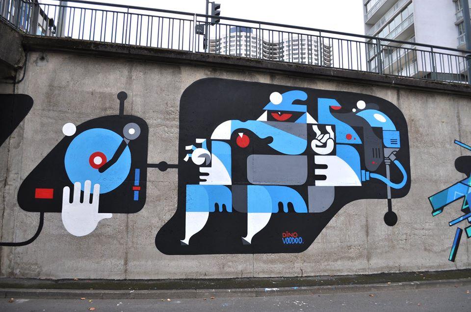 dino voodoo - street art - rennes
