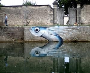 mika - street art - poisson exocet - cognac - fussigny