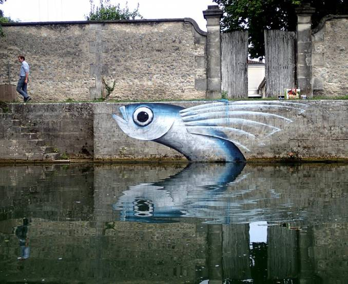 mika - street art - poisson exocet - cognac - fussigny