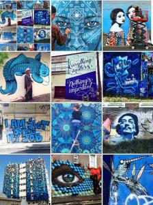 mosaic - blue - street art avenue