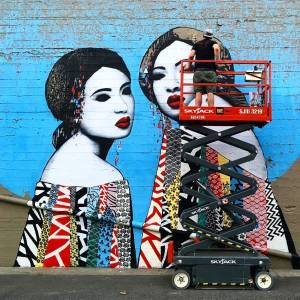 street-art-avenue-mosaic-blue-hush-eugene-oregon